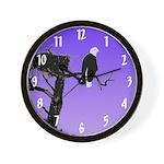 Sunset Bald Eagle Wall Clock