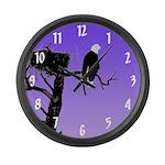 Sunset Bald Eagle Large Wall Clock