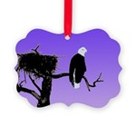 Sunset Bald Eagle Picture Ornament