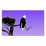 Sunset Bald Eagle Sticker (Rectangle)