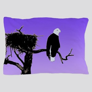 Sunset Bald Eagle Pillow Case