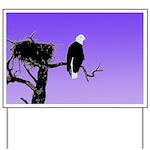 Sunset Bald Eagle Yard Sign