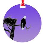 Sunset Bald Eagle Round Ornament