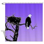 Sunset Bald Eagle Shower Curtain