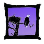 Sunset Bald Eagle Throw Pillow
