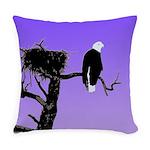 Sunset Bald Eagle Everyday Pillow