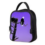 Sunset Bald Eagle Neoprene Lunch Bag