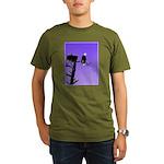 Sunset Bald Eagle Organic Men's T-Shirt (dark)