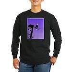 Sunset Bald Eagle Long Sleeve Dark T-Shirt