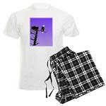 Sunset Bald Eagle Men's Light Pajamas