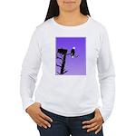 Sunset Bald Eagle Women's Long Sleeve T-Shirt