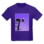 Sunset Bald Eagle Kids Dark T-Shirt