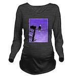 Sunset Bald Eagle Long Sleeve Maternity T-Shirt