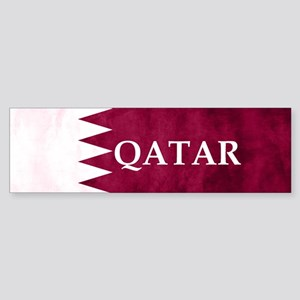 QATAR COUNTRY FLAG Bumper Sticker
