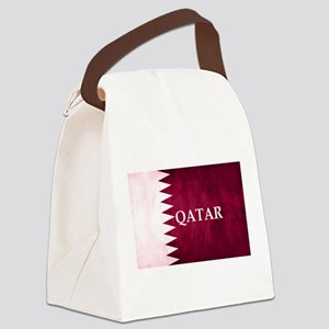 QATAR COUNTRY FLAG Canvas Lunch Bag