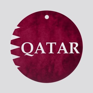 QATAR COUNTRY FLAG Round Ornament