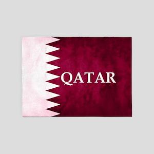 QATAR COUNTRY FLAG 5'x7'Area Rug