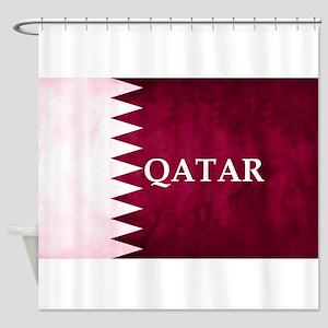 QATAR COUNTRY FLAG Shower Curtain