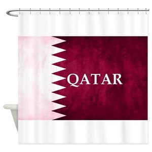 Maroon And White Shower Curtains