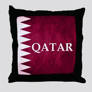 QATAR COUNTRY FLAG Throw Pillow