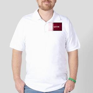 QATAR COUNTRY FLAG Golf Shirt