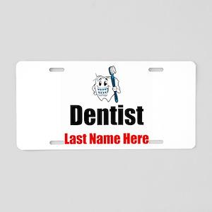 Dentist Aluminum License Plate