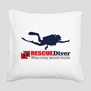 RESCUEDiver Square Canvas Pillow