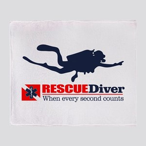 RESCUEDiver Throw Blanket