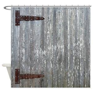 Barn Door Shower Curtains