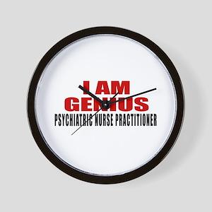 I Am Genius Psychiatric Nurse Practitio Wall Clock