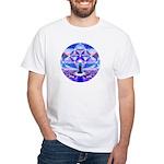Cosmic Spiral 64 White T-Shirt