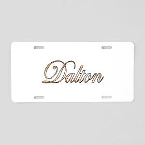 Gold Dalton Aluminum License Plate