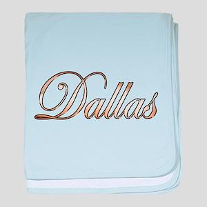 Gold Dallas baby blanket