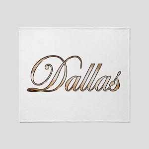 Gold Dallas Throw Blanket
