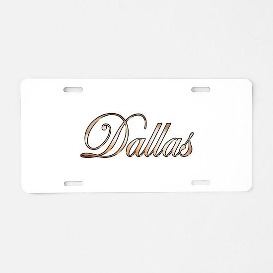 Gold Dallas Aluminum License Plate