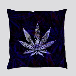 Hemp Leaf Art Everyday Pillow