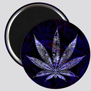 Hemp Leaf Art Magnets