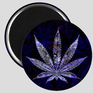 Hemp Leaf Art Magnets