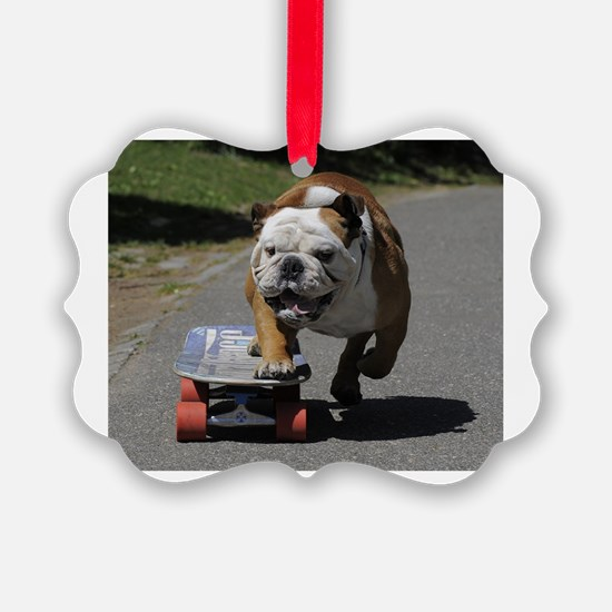 Cute English bulldog Ornament