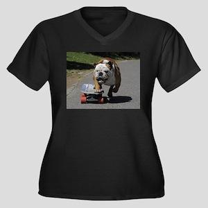 English Bulldog Plus Size T-Shirt