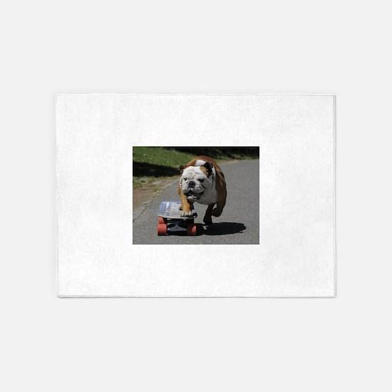 English Bulldog 5'x7'Area Rug