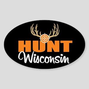 Hunt Wyoming Oval Sticker