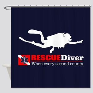 RESCUEDiver Shower Curtain