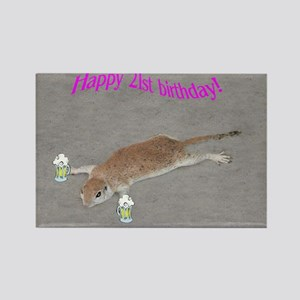 21st b-day prairie dog Rectangle Magnet