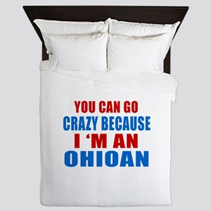 I Am Ohioan Queen Duvet
