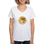 Sanibel Slacker - Women's V-Neck T-Shirt
