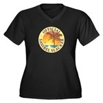Sanibel Slac Women's Plus Size V-Neck Dark T-Shirt