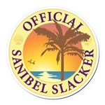 Sanibel Slacker - Round Car Magnet