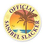 Sanibel Slacker - Round Car Magnet