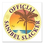 Sanibel Slacker - Square Car Magnet 3